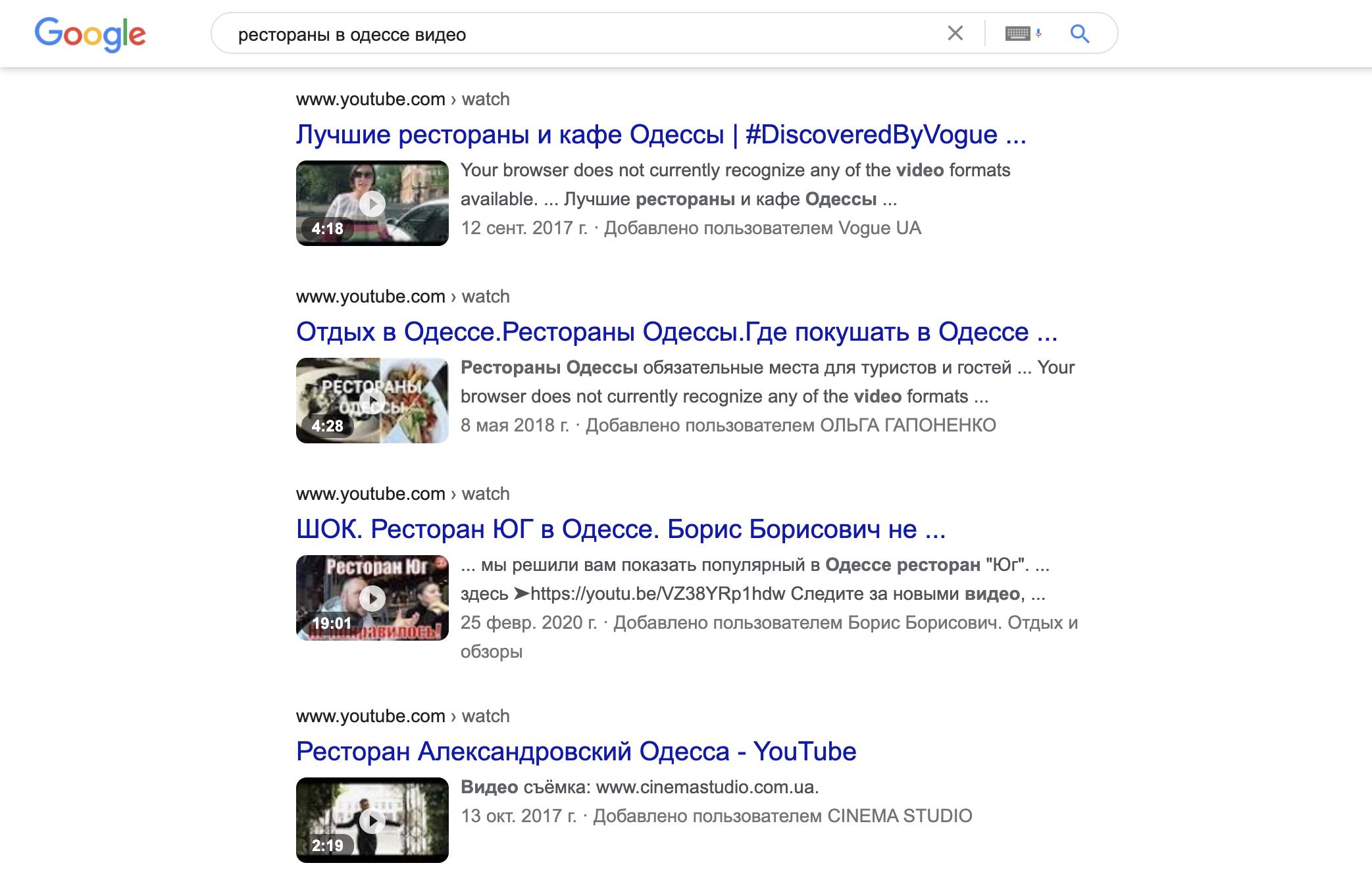 Из года в год люди настраиваются на все больше видеоконтента, и алгоритм Google развивается соответственно.